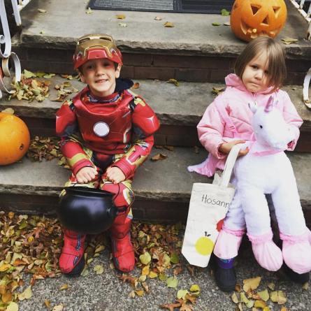 Iron Man and Unicorn, halloween kids