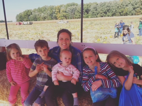 Hay ride with my kids